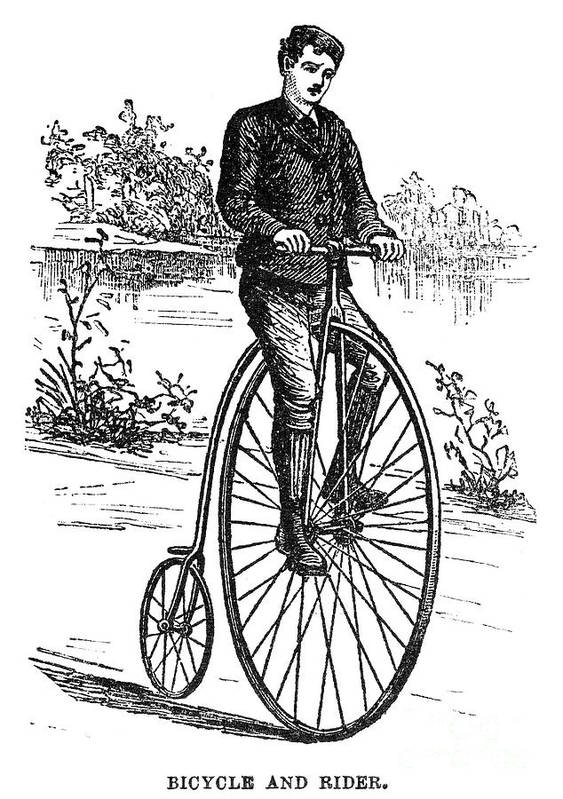 1870s Poster featuring the photograph Bicycle, C1870s by Granger