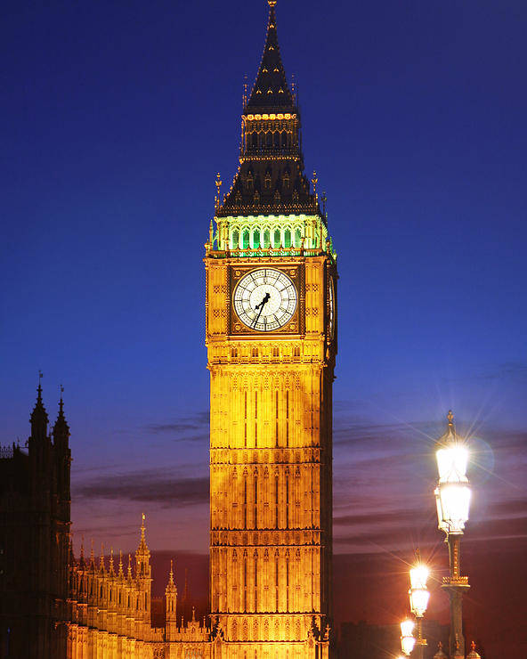 Big Poster featuring the photograph Big Ben At Night by Dan Breckwoldt