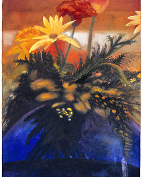 Watercolor Poster featuring the painting Big Blue by Nancy Ethiel