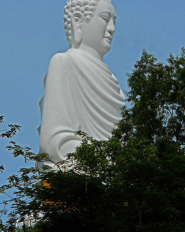 Phu My Poster featuring the photograph Big Buddha 5 by Ron Kandt