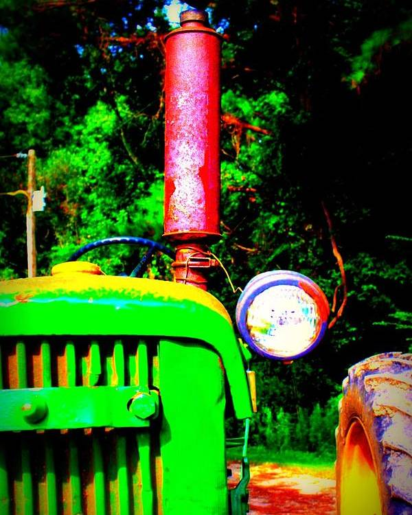 Old Poster featuring the photograph Big Green Tractor 2 by Jill Tennison