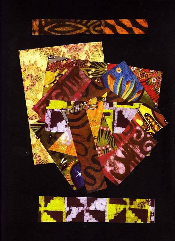 Abstract Poster featuring the mixed media Big Pieces Bigger Dreams by Bee Jay