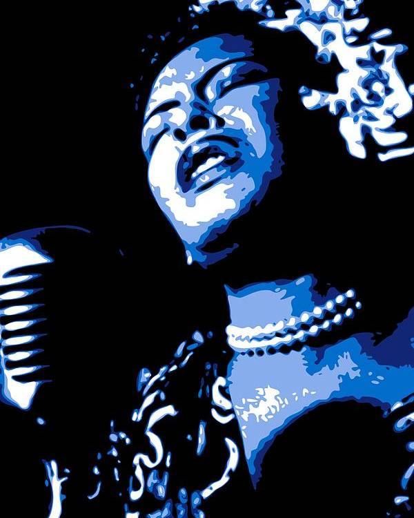 Billie Holiday Poster featuring the digital art Billie Holiday by DB Artist