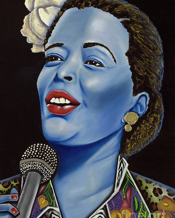 Portrait. Metallic Accessories Poster featuring the painting Billie by Nannette Harris