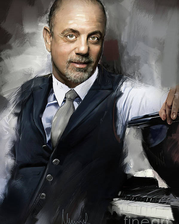 Billy Joel Poster featuring the painting Billy Joel by Melanie D