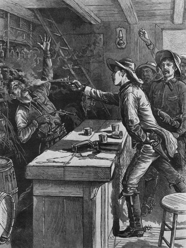 1880s Poster featuring the photograph Billy The Kid 1859-81, Shooting by Everett