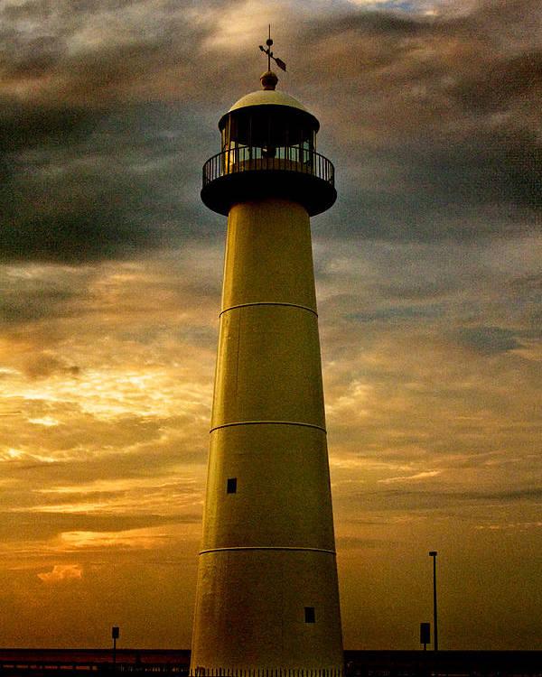 Biloxi Lighthouse Sunrise Poster By Scott Pellegrin
