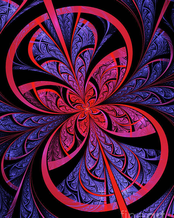 Flame Fractal Poster featuring the digital art Bipolar by John Edwards