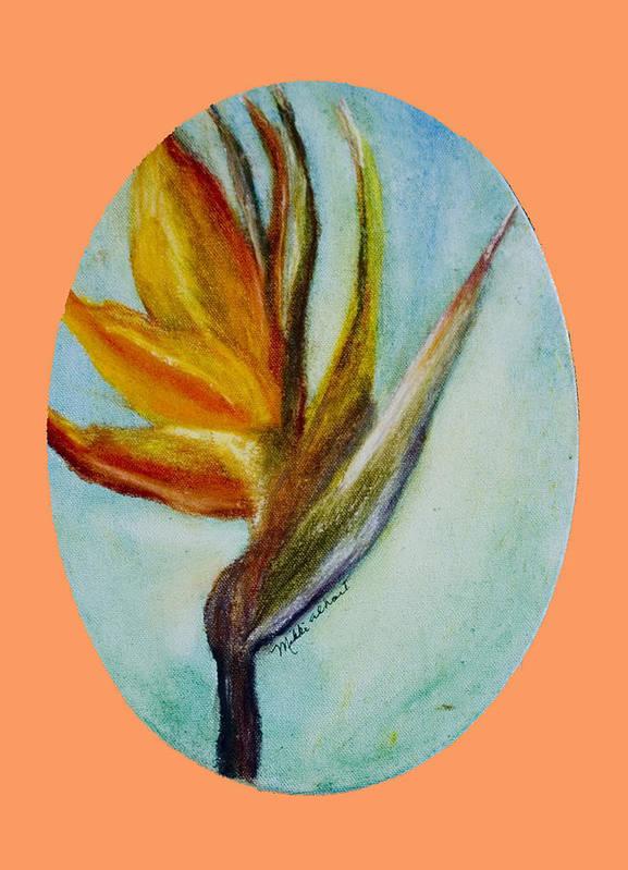Bird Of Paridise Poster featuring the painting Bird Of Paridise by Mikki Alhart