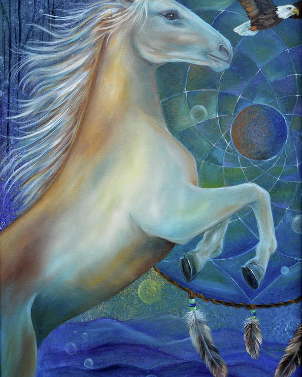 Horse Poster featuring the painting Birth Of Freedom by Sundara Fawn
