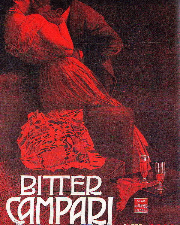 d88b6c87bc4e5 Marcello Poster featuring the painting Bitter Campari by Marcello Dudovich