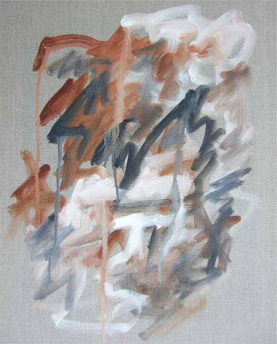 Abstract Poster featuring the painting Black and Tan No 1 by Michael Henderson