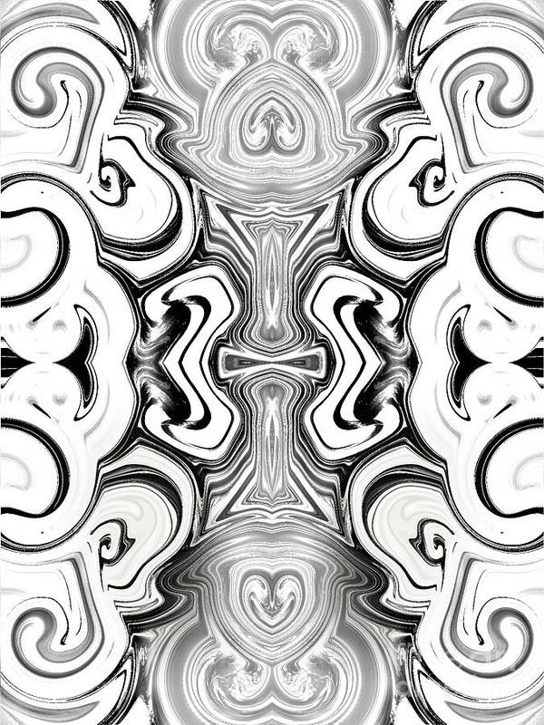 Abstract Poster featuring the photograph Black And White Symmetry  by Samantha Joseph