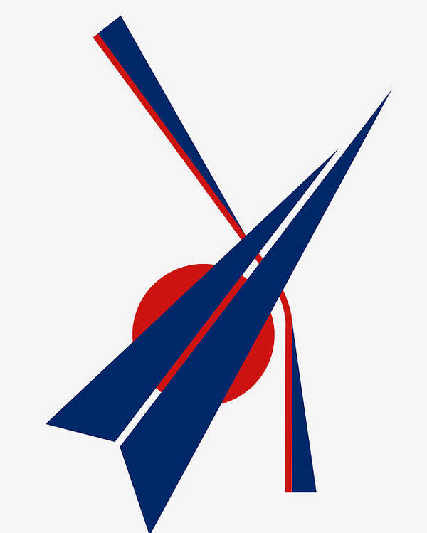 Black Arrow Poster featuring the digital art Black Arrow by Asbjorn Lonvig