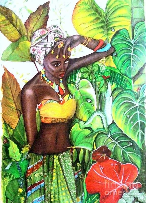 Model Poster featuring the painting Black Beauty004 by Payal Tripathi