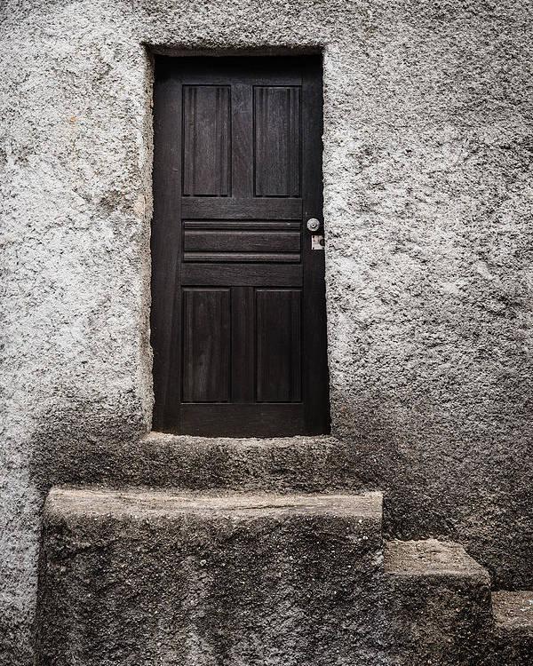 Black Door Poster featuring the photograph Black Door by Marco Oliveira