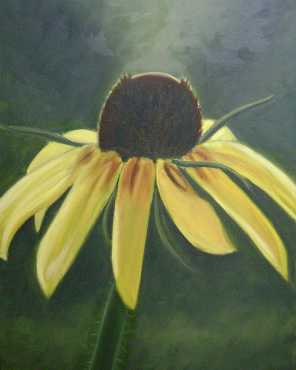 Flower Poster featuring the painting Black Eyed Susan by Toni Berry