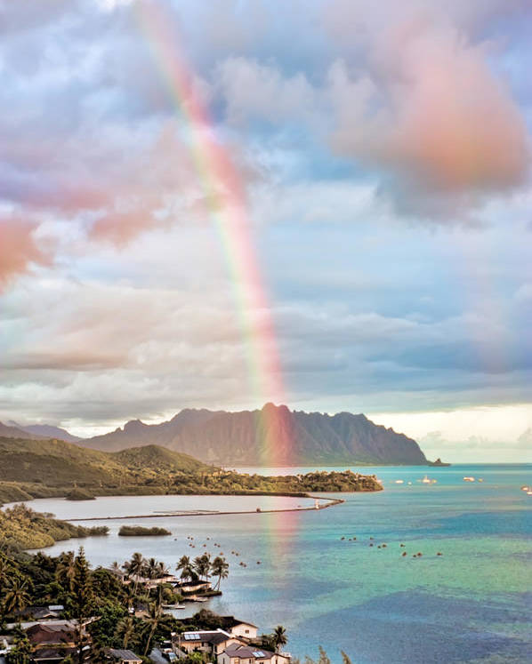 Hawaii Poster featuring the photograph Black Friday Rainbow by Dan McManus