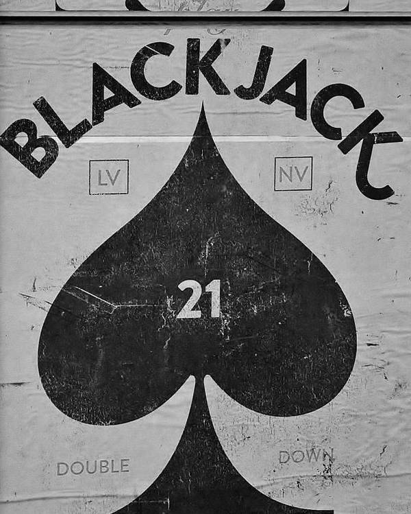 Black Jack Poster featuring the photograph Black Jack by Valerie Brown