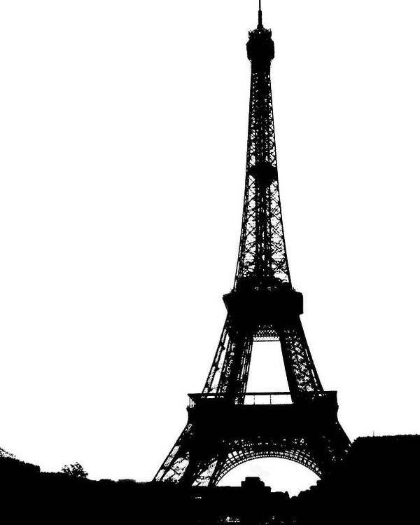 France Poster featuring the photograph Black On White Eiffel by D Cochener