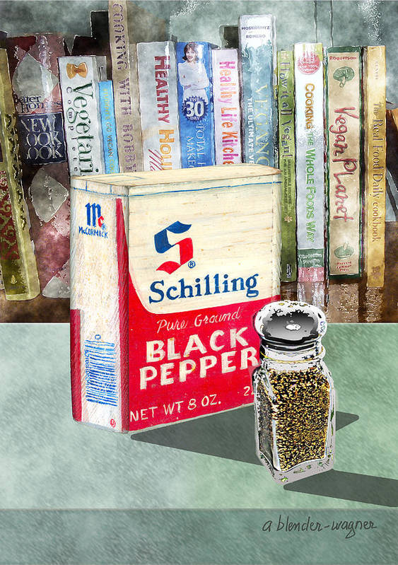 Pepper Poster featuring the digital art Black Pepper by Arline Wagner