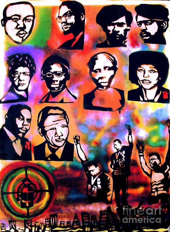 Dr. Martin Luther King Jr. Poster featuring the painting Black Revolution by Tony B Conscious