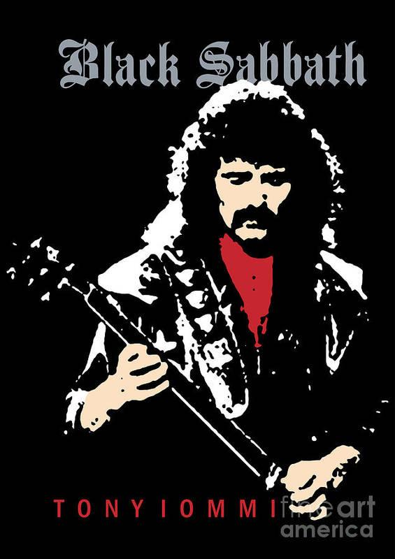 Black Sabbath Poster featuring the digital art Black Sabbath No.02 by Caio Caldas