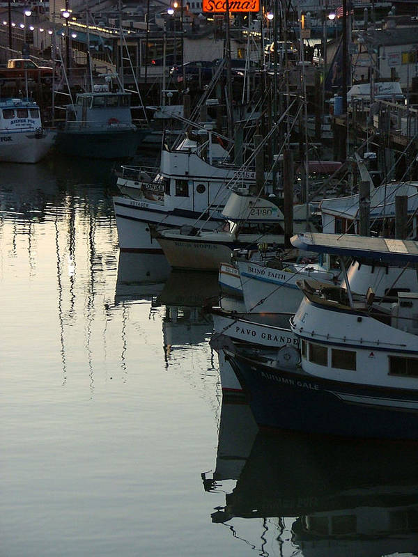 Boats Poster featuring the photograph Blind Faith by Donna Thomas
