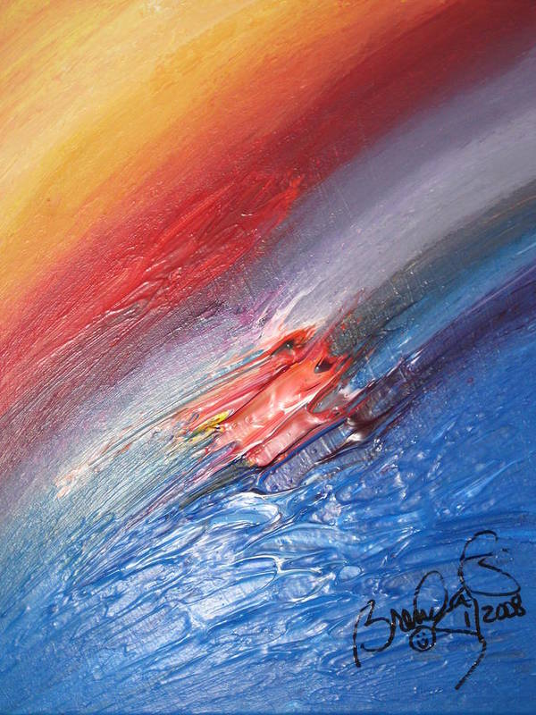 Abstract Poster featuring the painting Bliss - D by Brenda Basham Dothage
