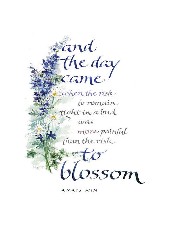 Achievement Poster featuring the painting Blossom I by Judy Dodds