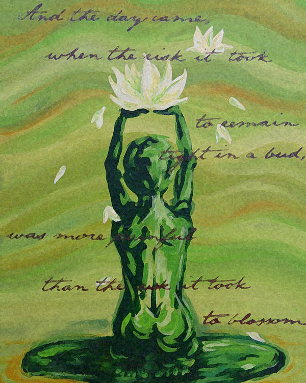 Lotus Poster featuring the painting Blossom by Juliet Magill
