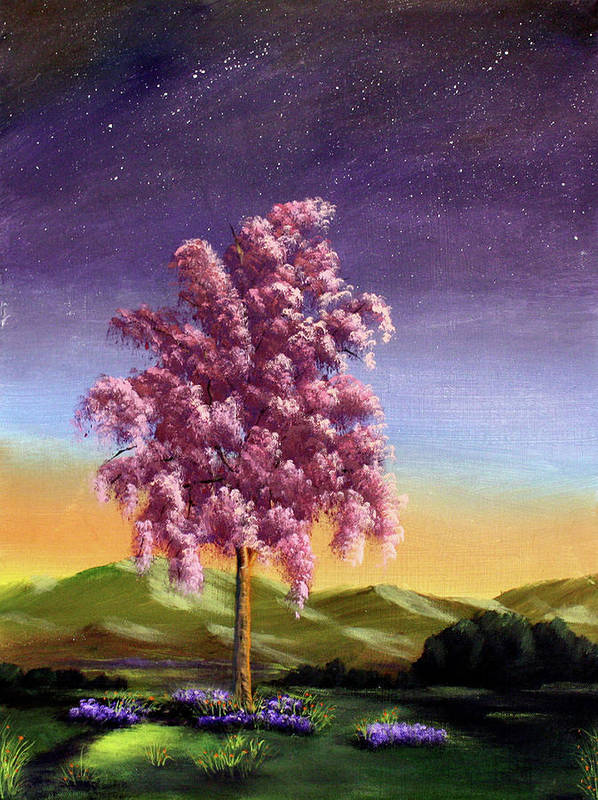 Dawn Blair Poster featuring the painting Blossoming by Dawn Blair
