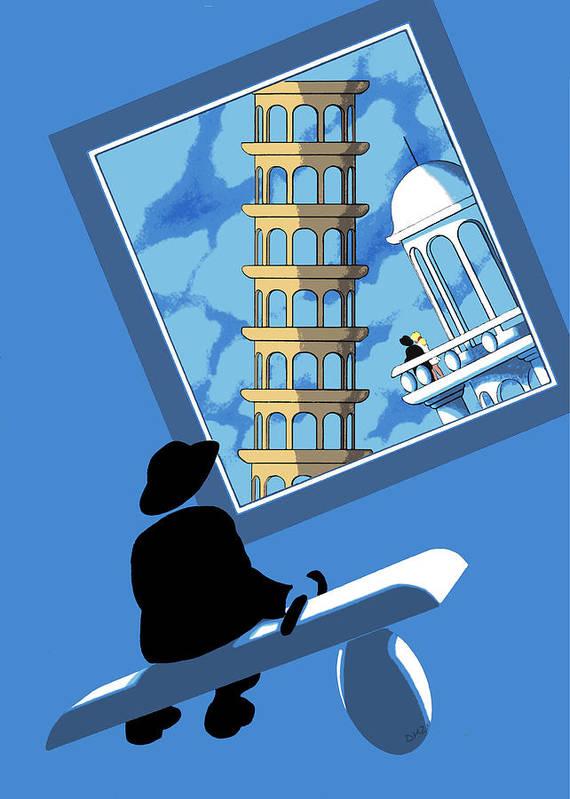 Dkzn Poster featuring the digital art Blue Arthur by Tom Dickson