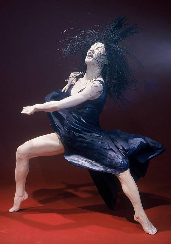 Dance Poster featuring the sculpture Blue Dancer Left View by Gordon Becker