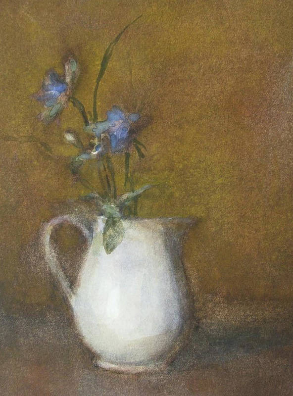 Floral Still Life Poster featuring the painting Blue Flower by Joan DaGradi