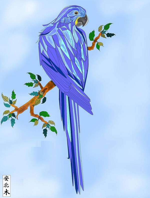 Blue Bird Poster featuring the painting Blue Hyacinth by Anne Norskog