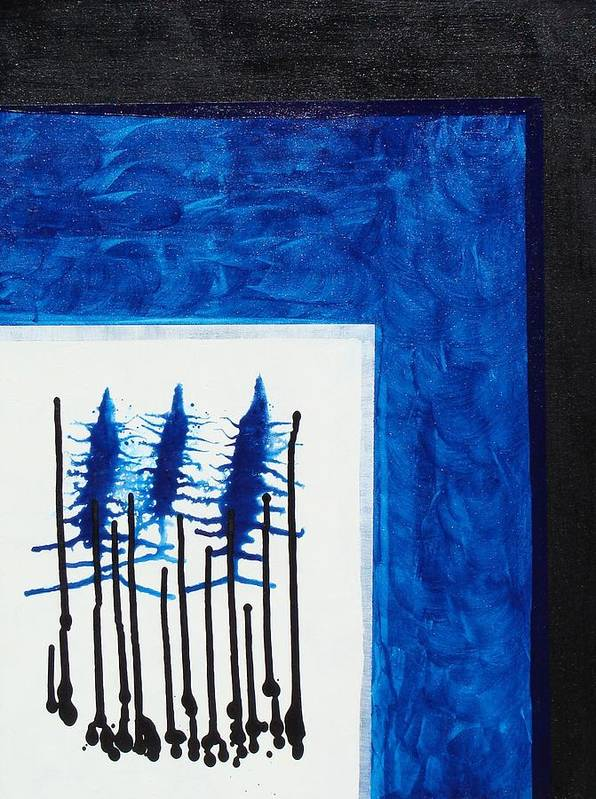 Abstract Poster featuring the painting Blue II by Ofelia Uz