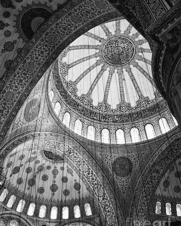 Blue Mosque Poster featuring the photograph Blue Mosque by Leslie Leda