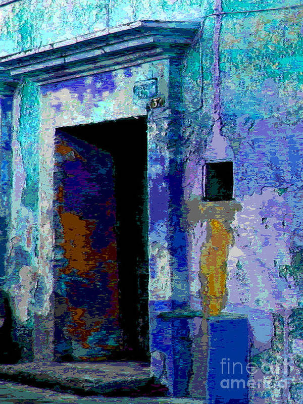 Michael Fitzpatrick Poster featuring the photograph Blue Passage By Michael Fitzpatrick by Mexicolors Art Photography