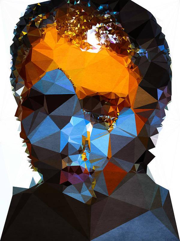 Poster featuring the digital art Blueberry Cumshot by Boris Draschoff