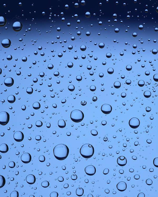 Frank Tschakert Poster featuring the photograph Blue Water Bubbles by Frank Tschakert