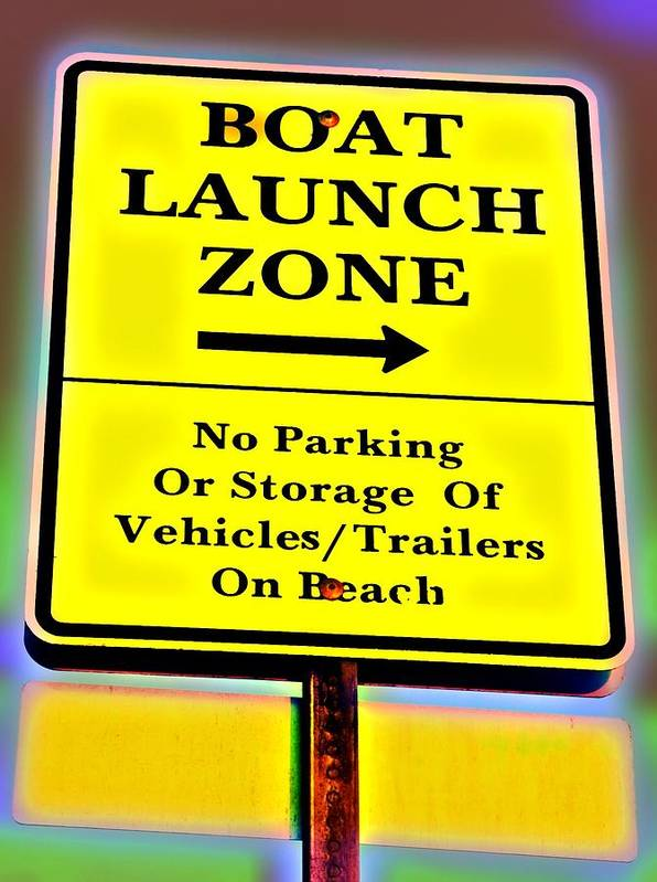 Boat Launch Poster featuring the photograph Boat Launch by Bob Pardue