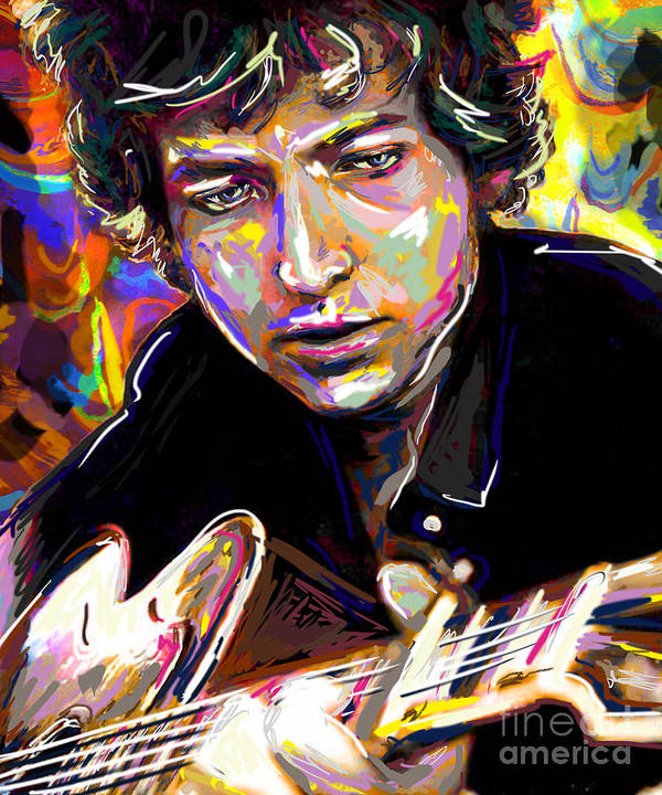 Bob Dylan Poster featuring the mixed media Bob Dylan Art by Ryan Rock Artist