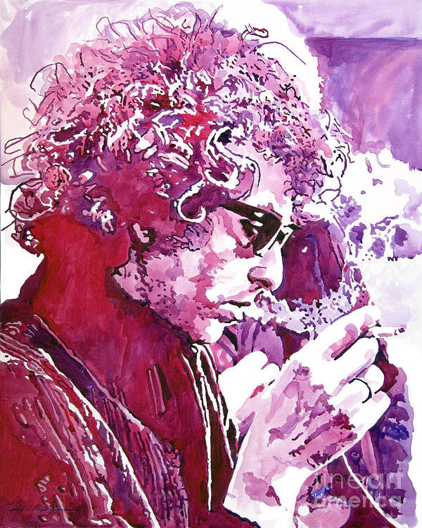Bob Dylan Poster featuring the painting Bob Dylan by David Lloyd Glover