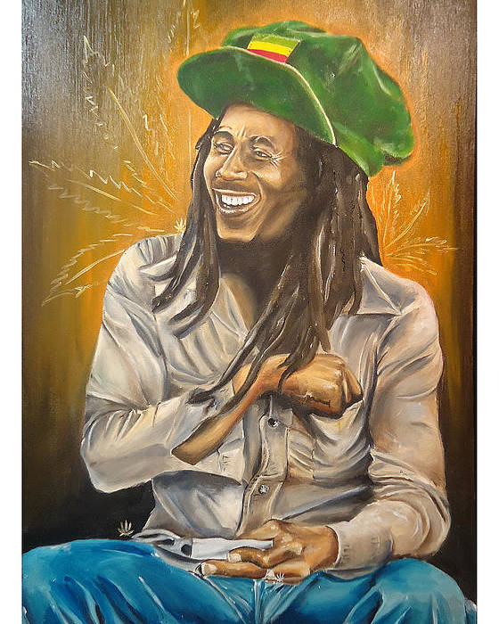 Bob Poster featuring the painting Bob Marley by Jeremy Worst