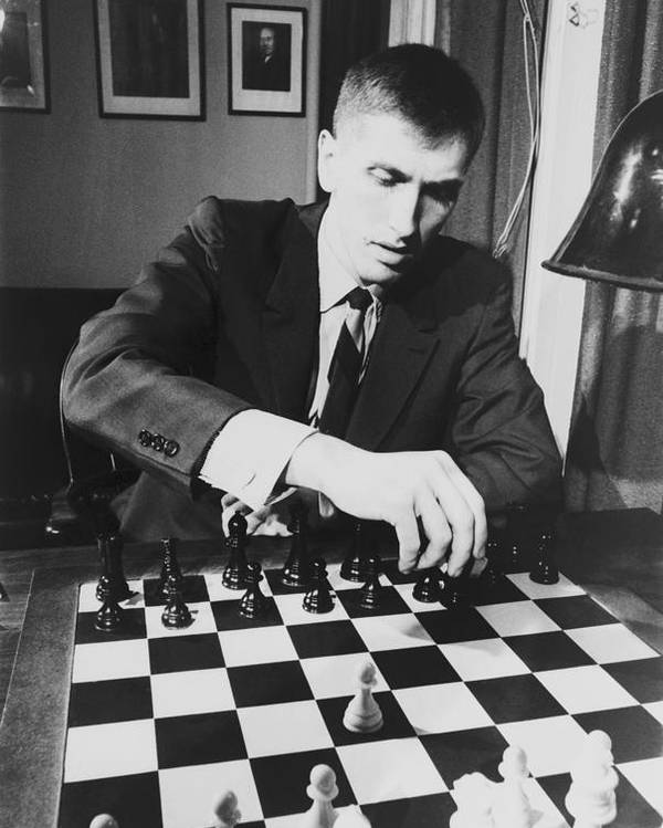 History Poster featuring the photograph Bobby Fischer 1943-2008 Competing At An by Everett