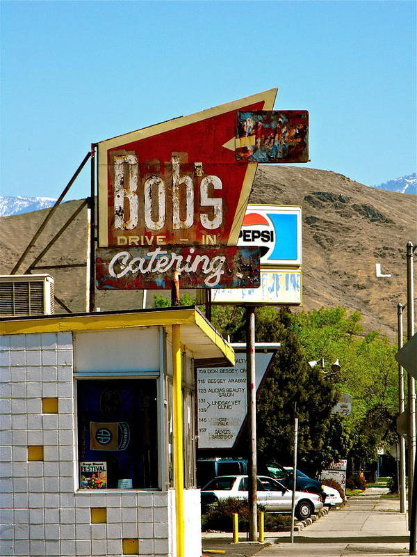 Signs Poster featuring the photograph Bobs Caterting by Sherry Hutsell