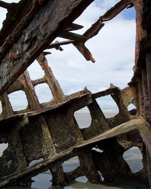 Shipwreck Poster featuring the photograph Bone Spurs by Jennifer Owen
