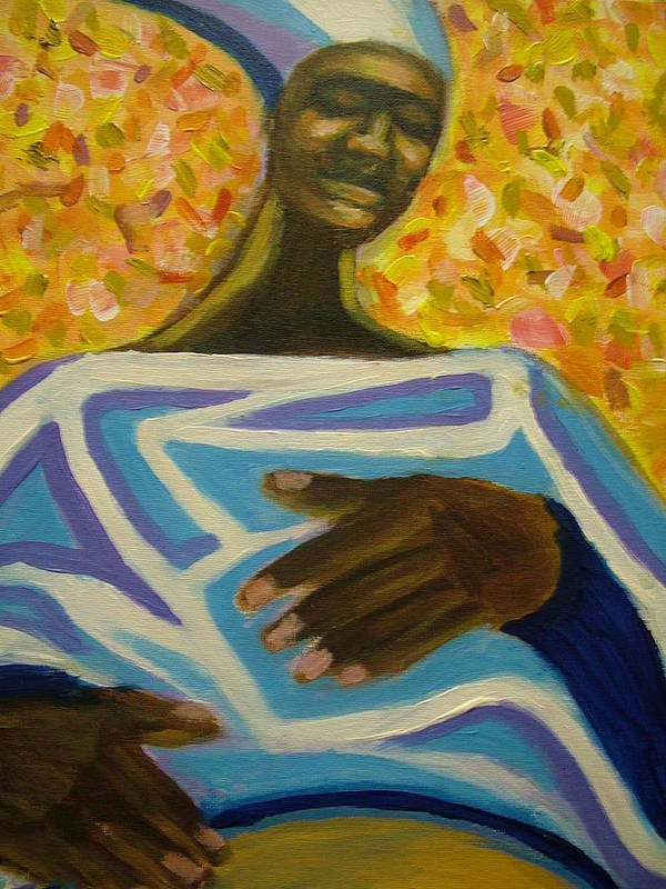 Painting Poster featuring the painting Bongo Man II by Jan Gilmore