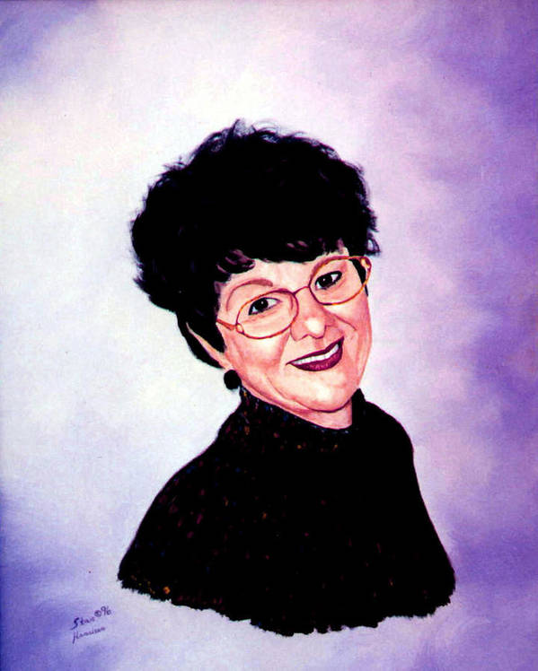 Portrait Poster featuring the painting Bonnie by Stan Hamilton